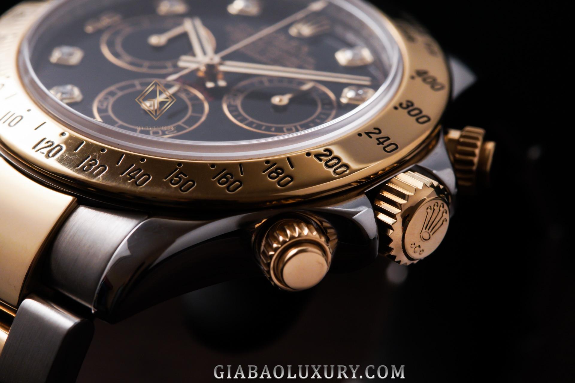 Đồng hồ Rolex CosmographDaytona 116523 Mặt số Đen