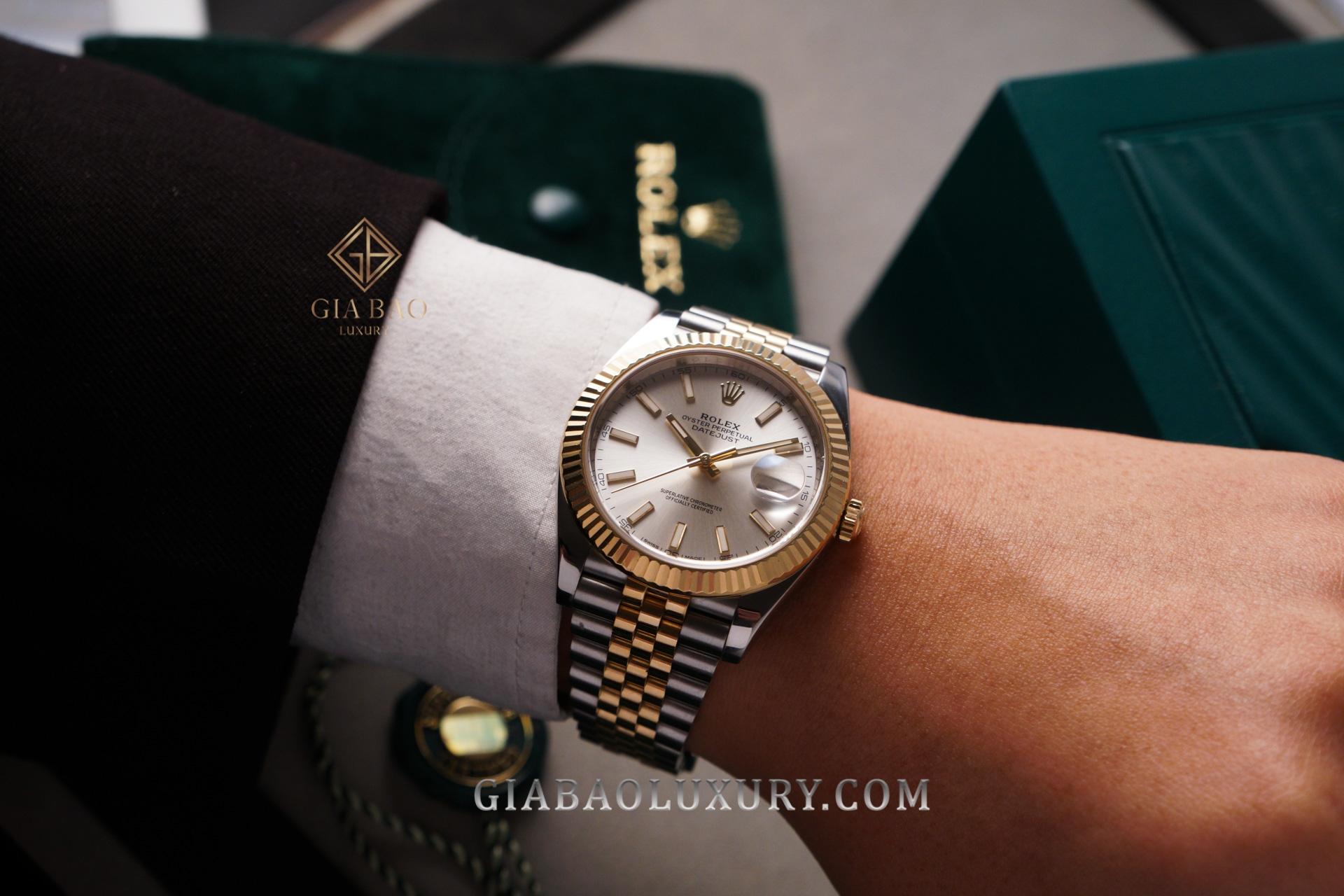 Đồng Hồ Rolex Datejust 41 126333 Mặt Số Bạc