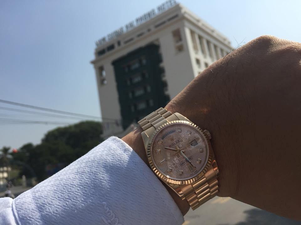 Gia Bảo Luxury hoàn thành chuyến giao dịch đến tận tay khách hàng ở thành  phố hoa phượng đỏ chiếc đồng hồ Rolex Day-Date 118235 ruby đỏ