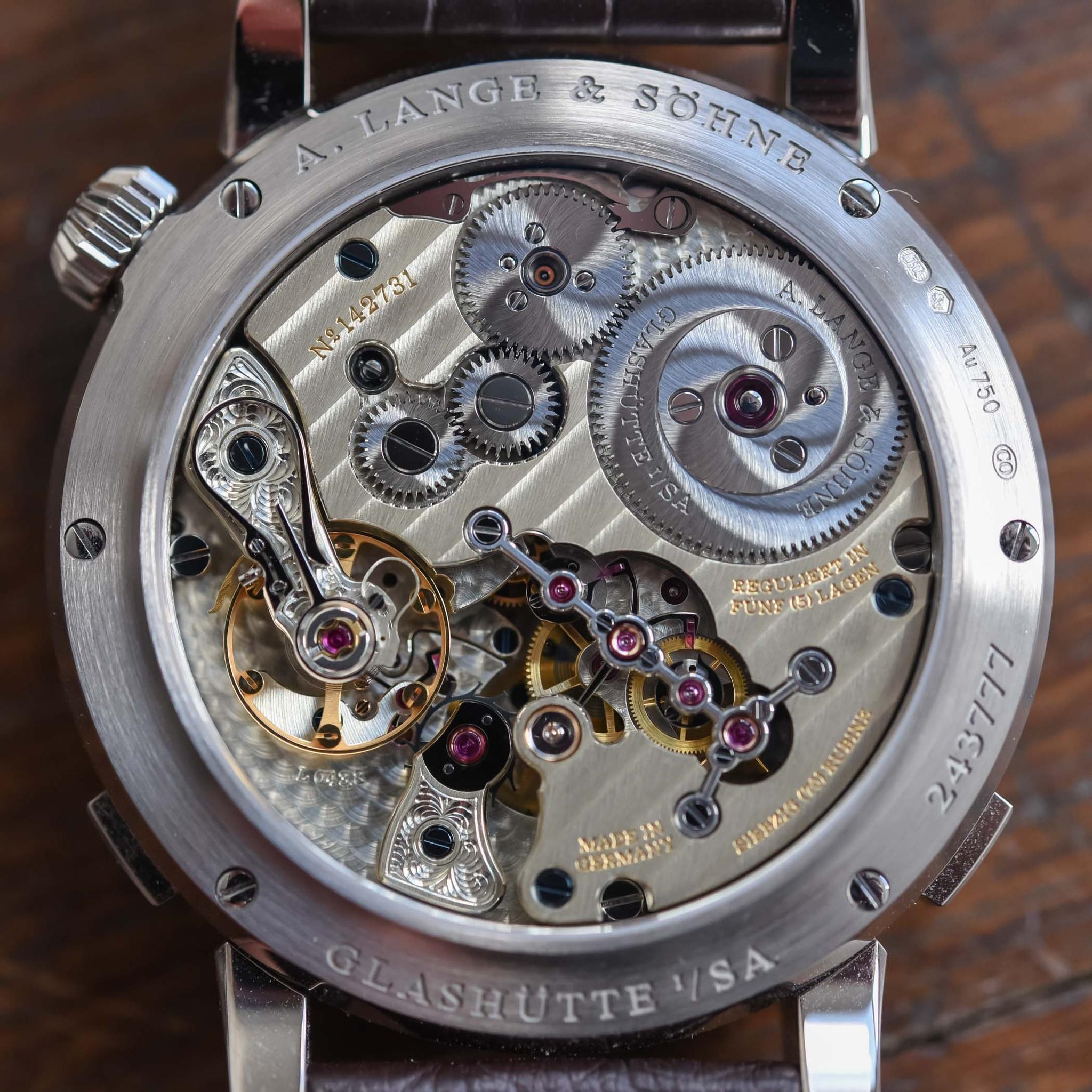 Bộ máy đồng hồ Đồng hồ A Lange Sohne Zeitwerk Date