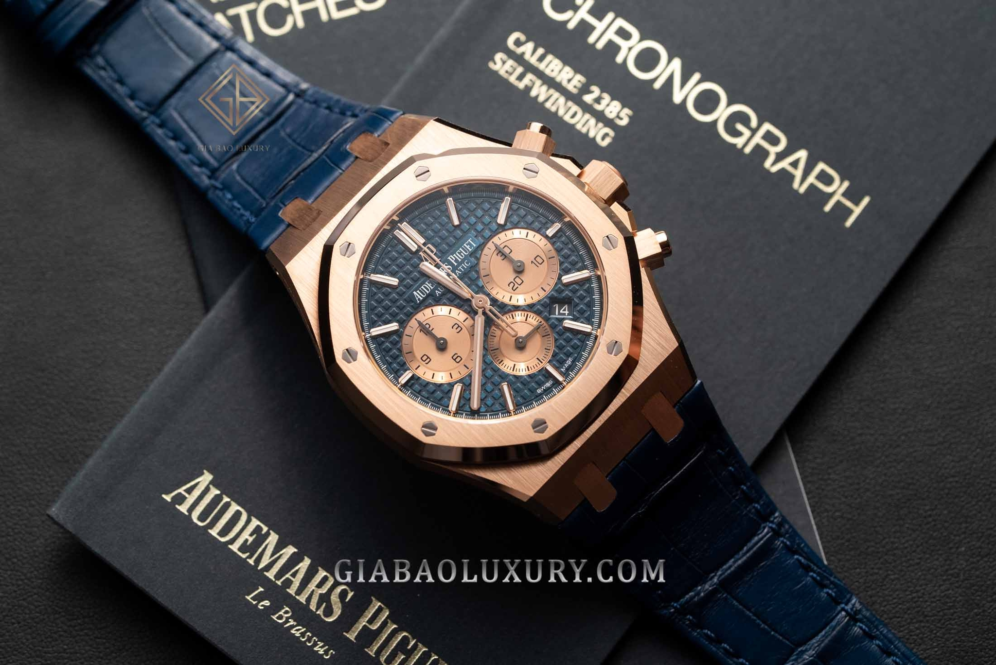 Audemars Piguet Royal Oak Chronograph 41mm 26331OR.OO.D315CR.01 Dây Da Cá Sấu