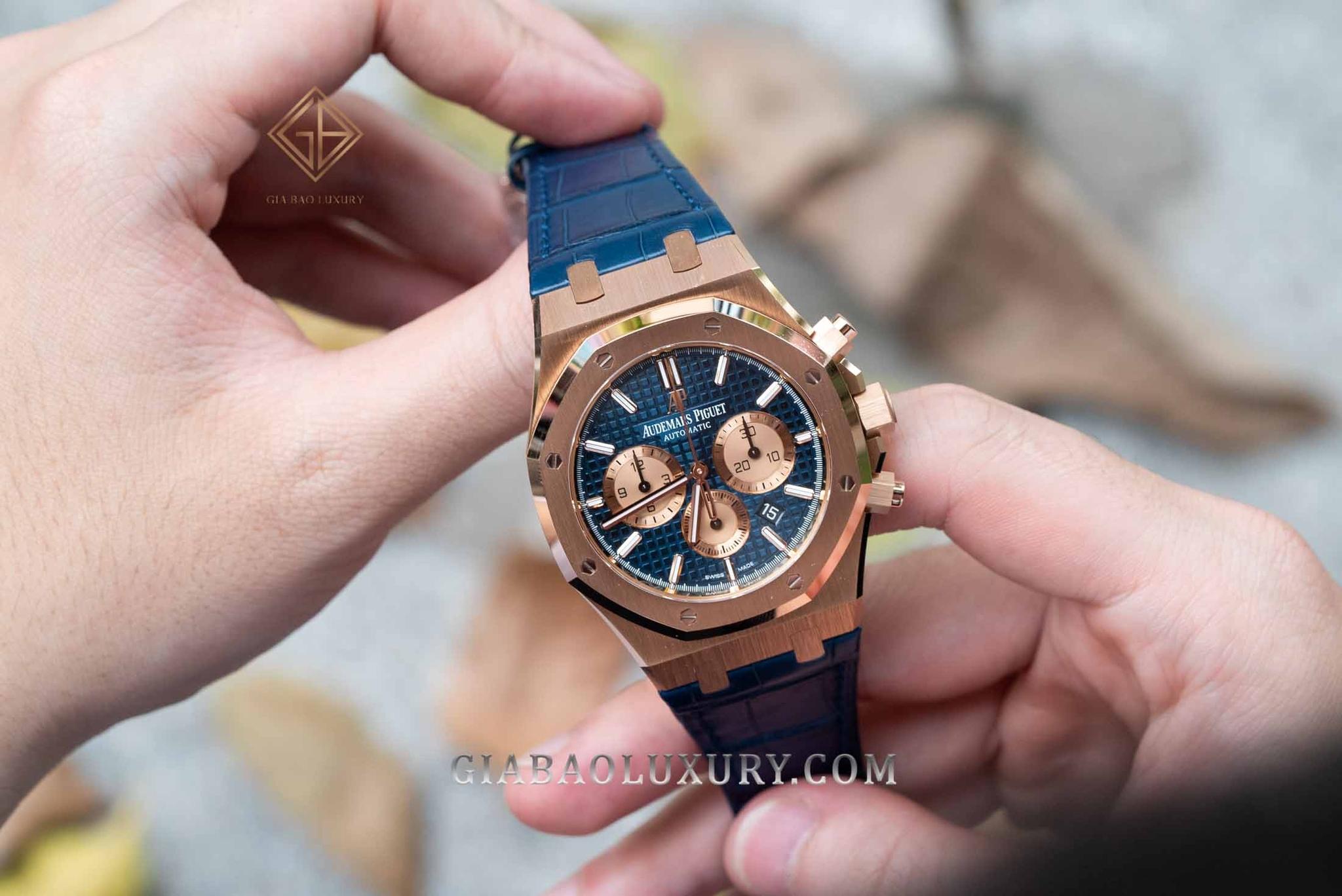 Audemars Piguet Royal Oak Chronograph 41mm 26331OR.OO.D315CR.01 Dây Da Cá Sấu