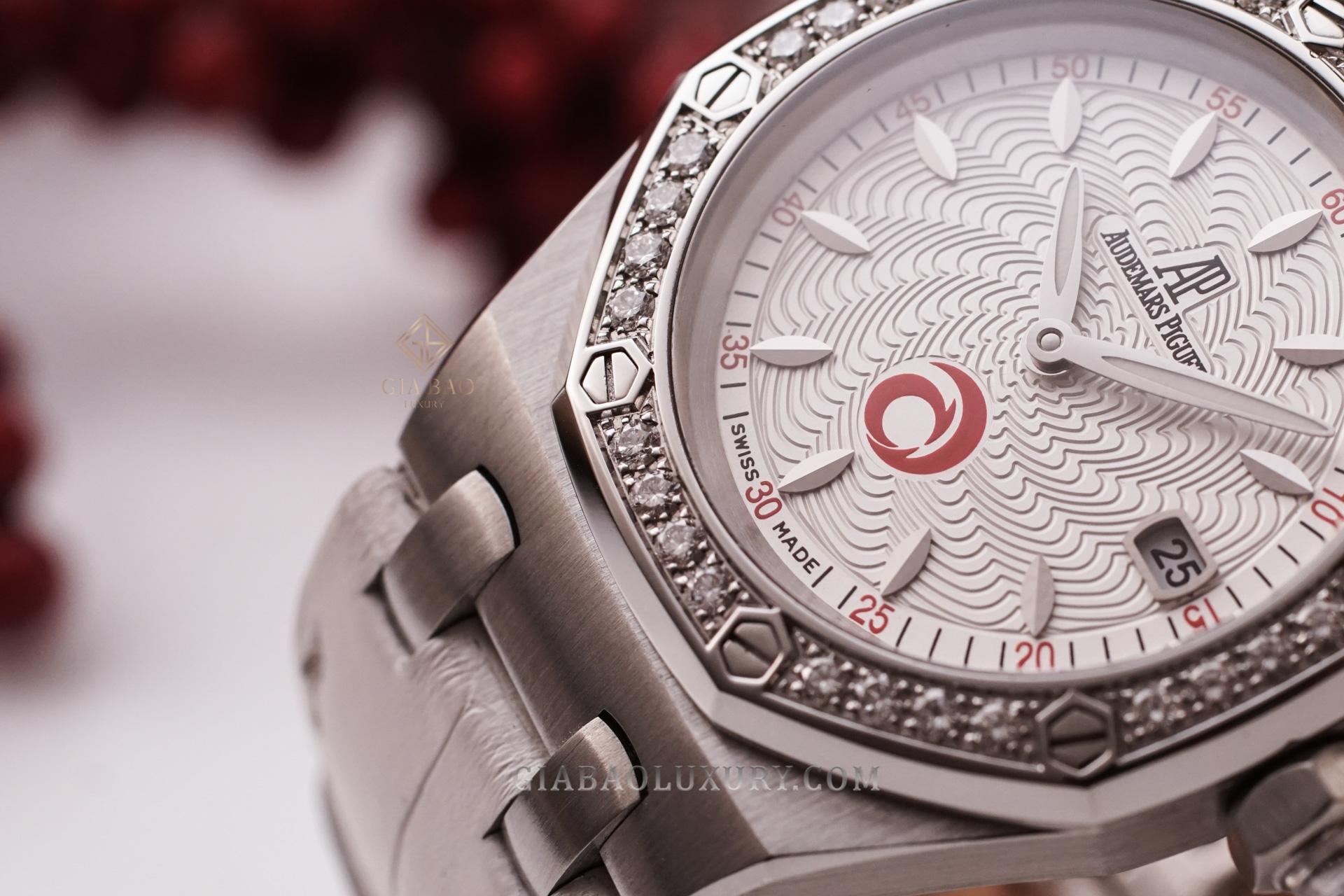 """đồng hồ Audemars Piguet Royal Oak Lady """"Alinghi"""" Ref. 67611ST.ZZ.D012CR.01"""