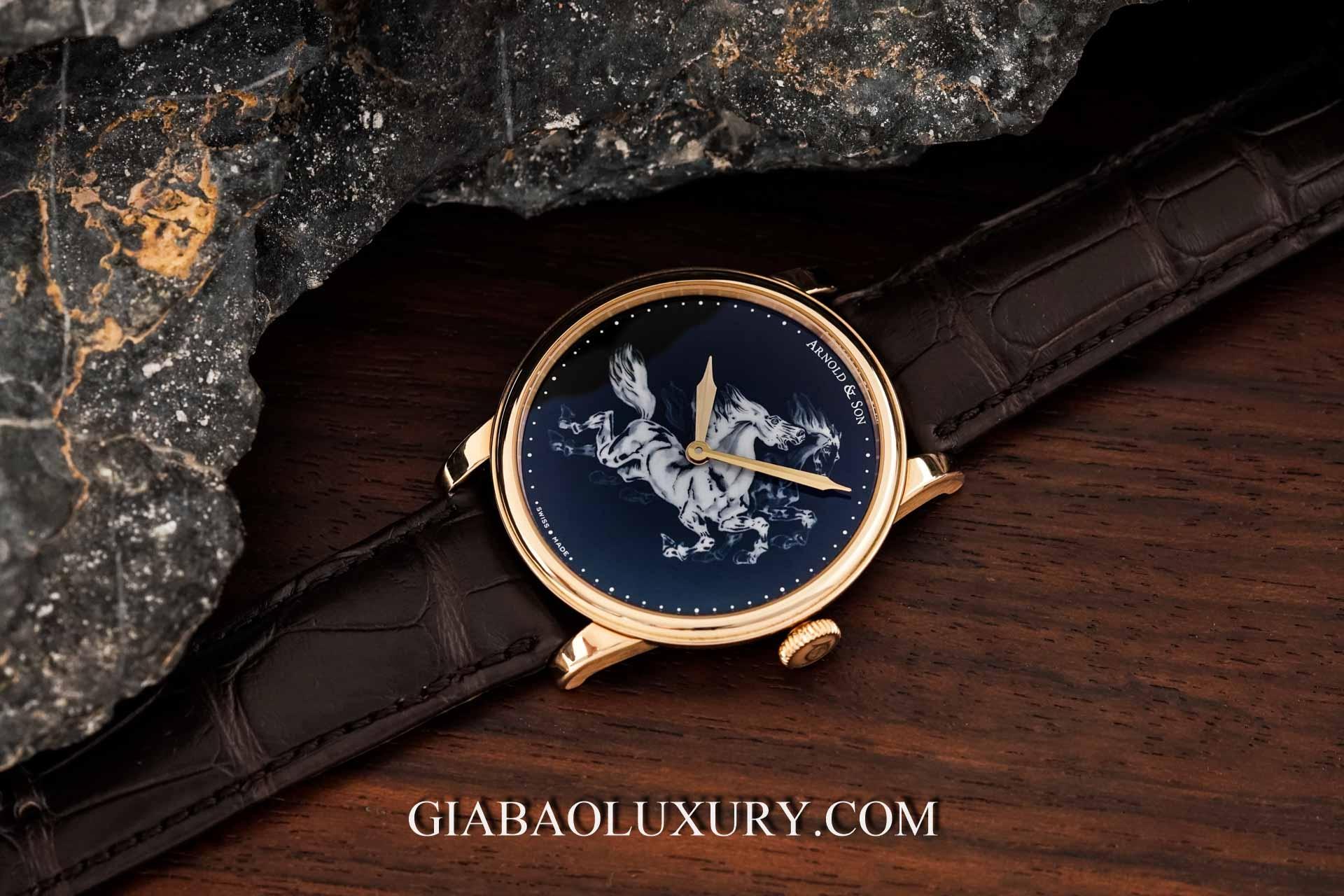 Review cặp đồng hồ Arnold & Son HM Horses Set