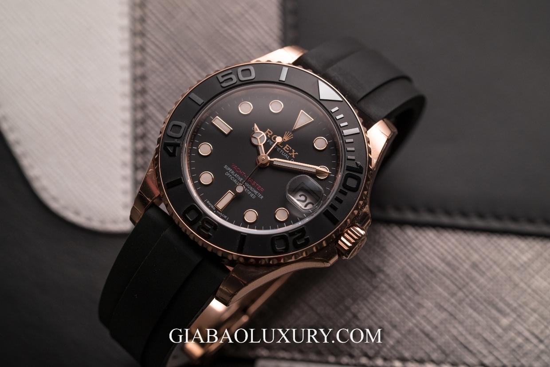 Đồng Hồ Rolex Yacht-Master 268655 Mặt Số Đen