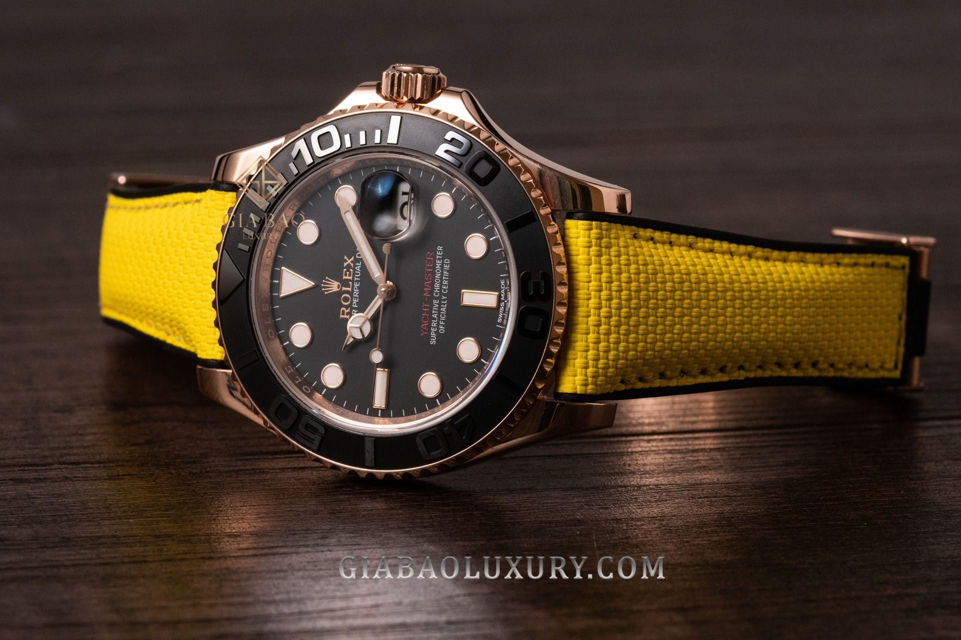Đồng Hồ Rolex Yacht-Master 116655 Mặt Số Đen