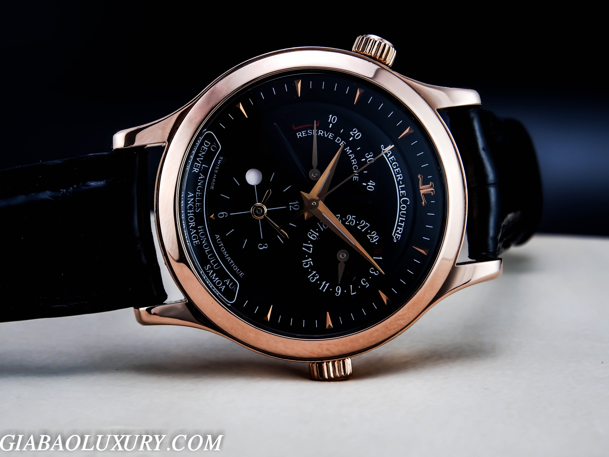 REVIEW ĐỒNG HỒ JAEGER - LECOULTRE MASTER CONTROL 1000 HOUR GEOGRAPHIC  18K  ROSE GOLD BỞI GIA BẢO LUXURY WATCH