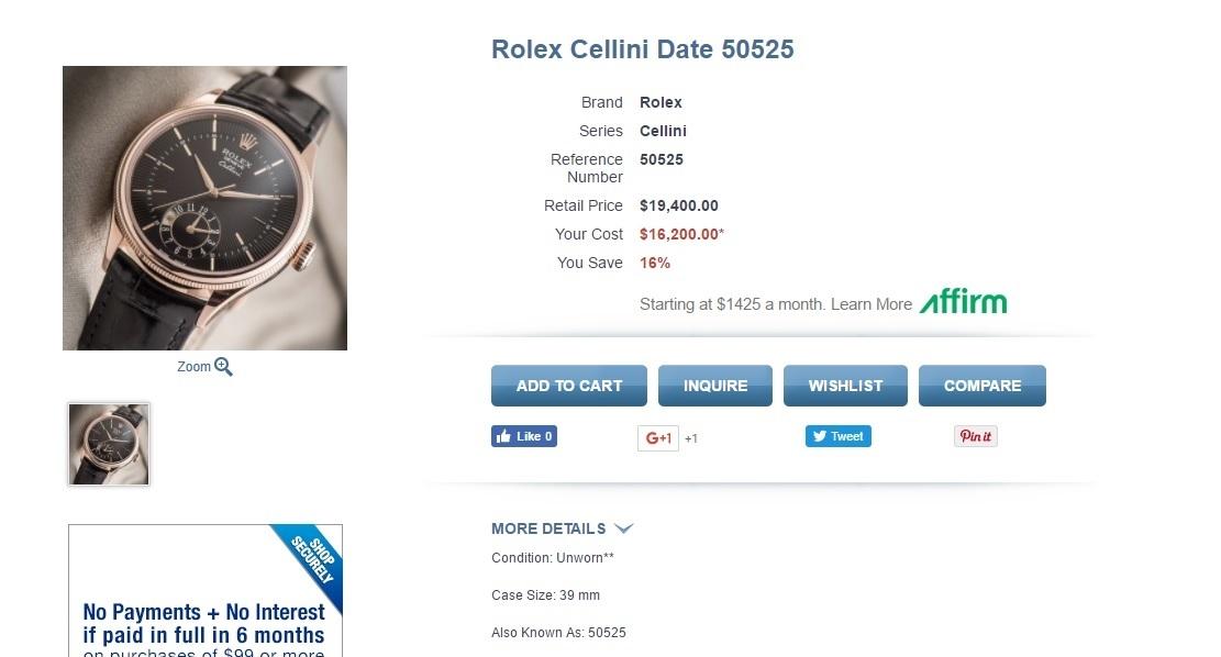 đồng hồ rolex cellini 50525