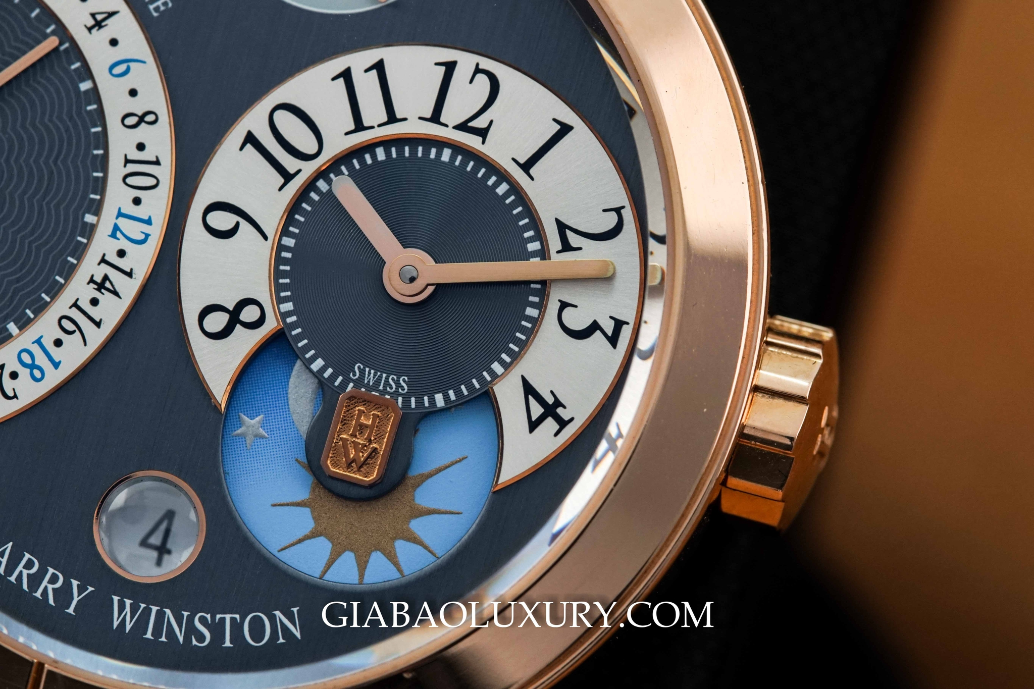 Đồng Hồ Harry Winston Premier Excenter Time Zone