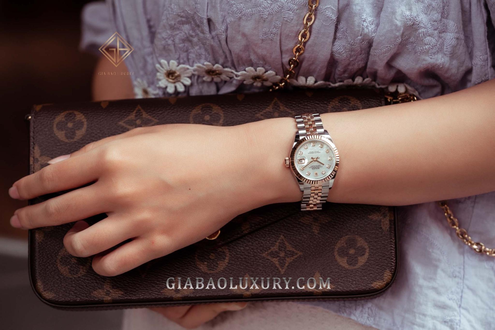 Rolex Lady-Datejust vàng Everose two-tone 279171