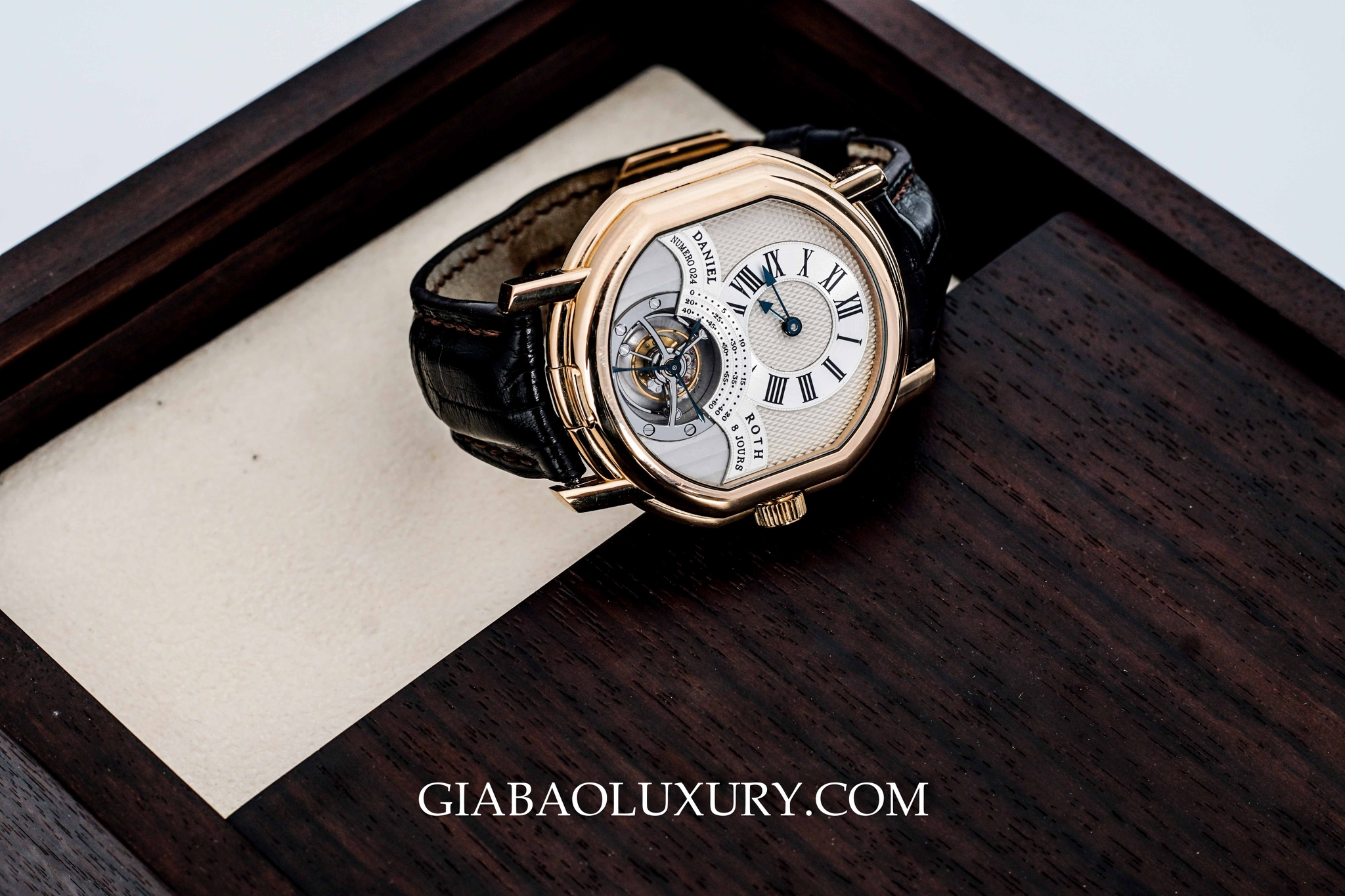 ĐỒNG HỒ DANIEL ROTH TOURBILLON 8 DAYS ROSE GOLD 18K