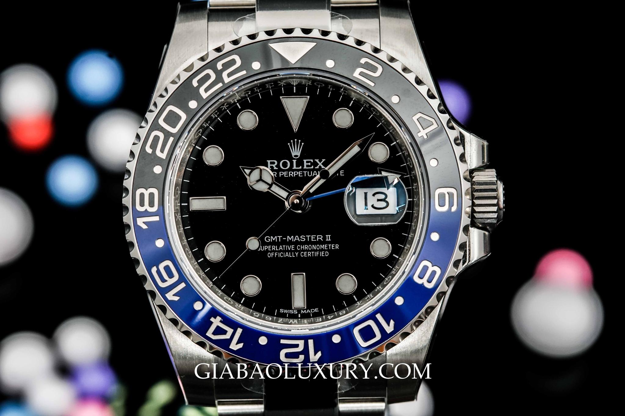 Đồng Hồ Rolex Batman GMT Master II, 116710BLNR