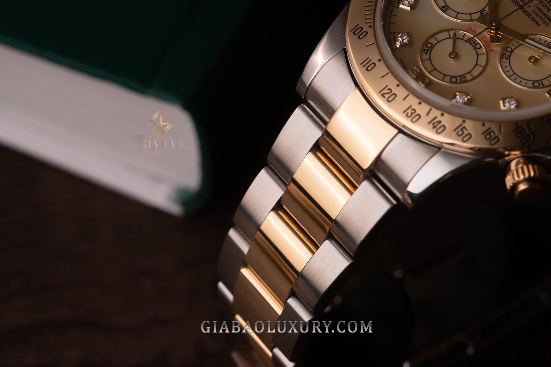 Đồng Hồ Rolex Cosmograph Daytona 116523 Mặt Ốc Vàng
