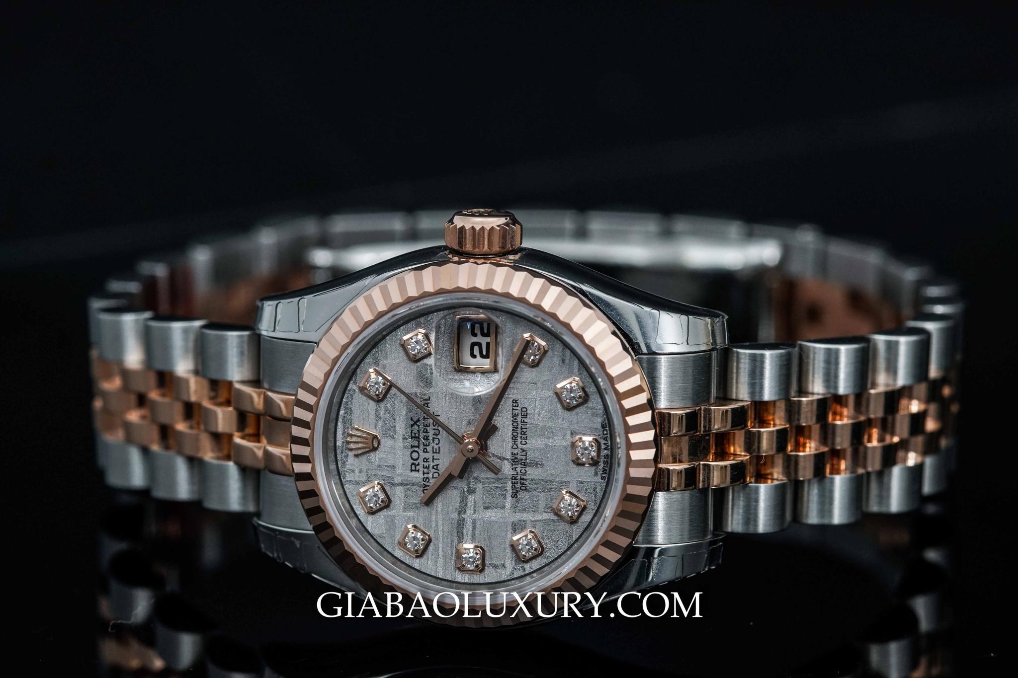 179171 - Rolex Lady Datejust với mặt số nạm kim cương