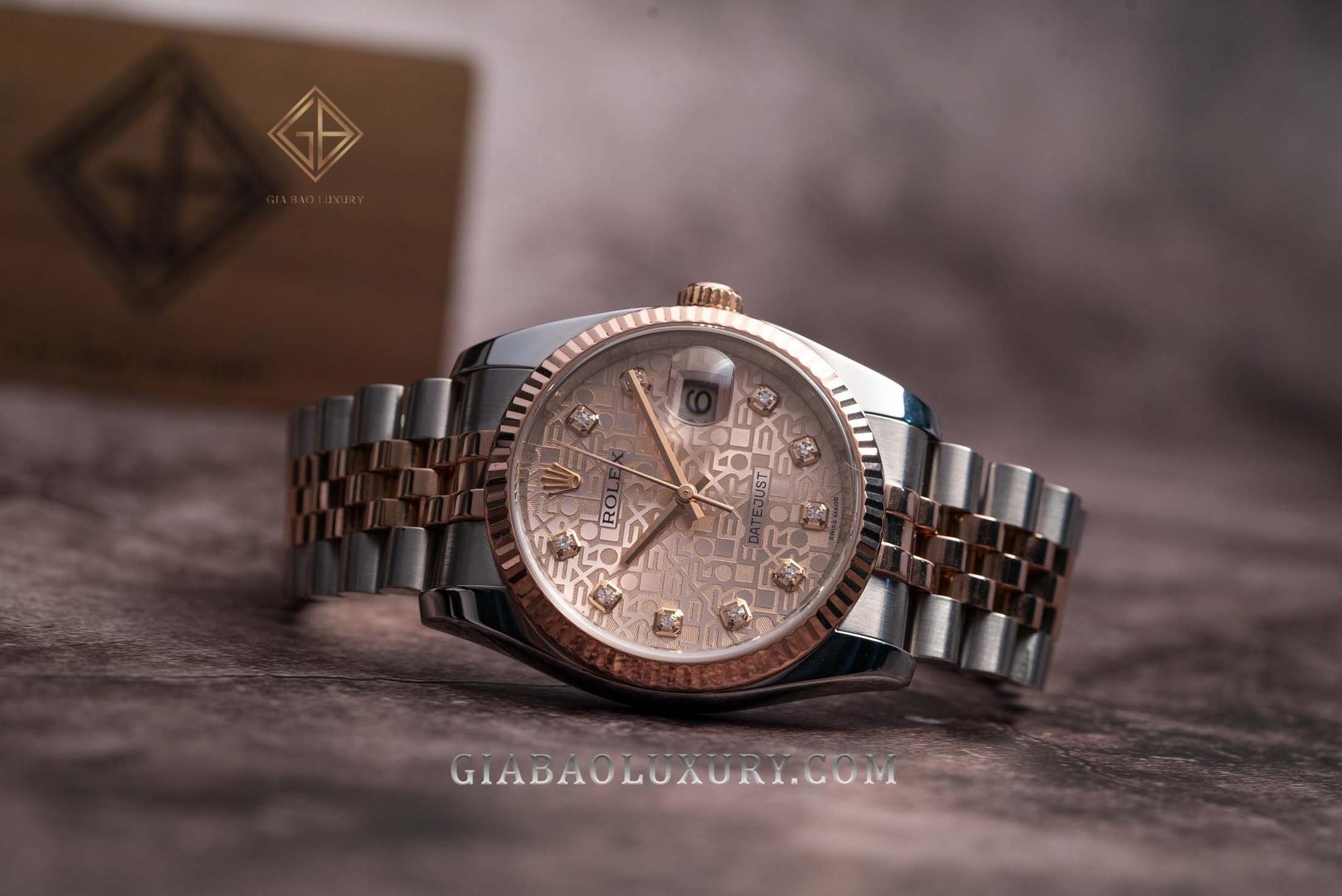 Đồng Hồ Rolex Datejust 36 116231 Mặt Số Vi Tính Hồng