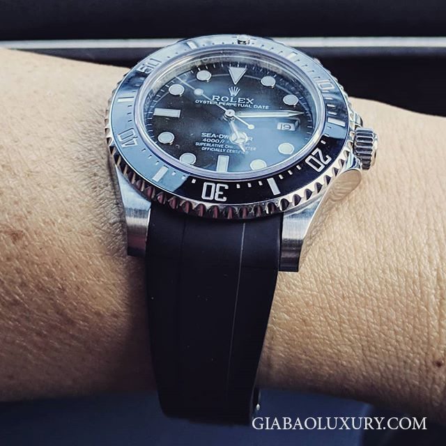 Dây cao su Rubber B Rolex Sea-Dweller 4000 - Tang Buckle Series