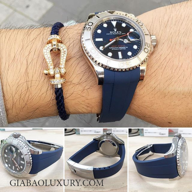Dây cao su Rubber B Rolex Yachtmaster 40mm - Classic Series
