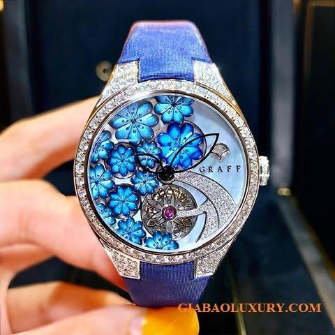 Đồng hồ Graff Floral 37mm Mặt Số Vỏ Trai Xanh