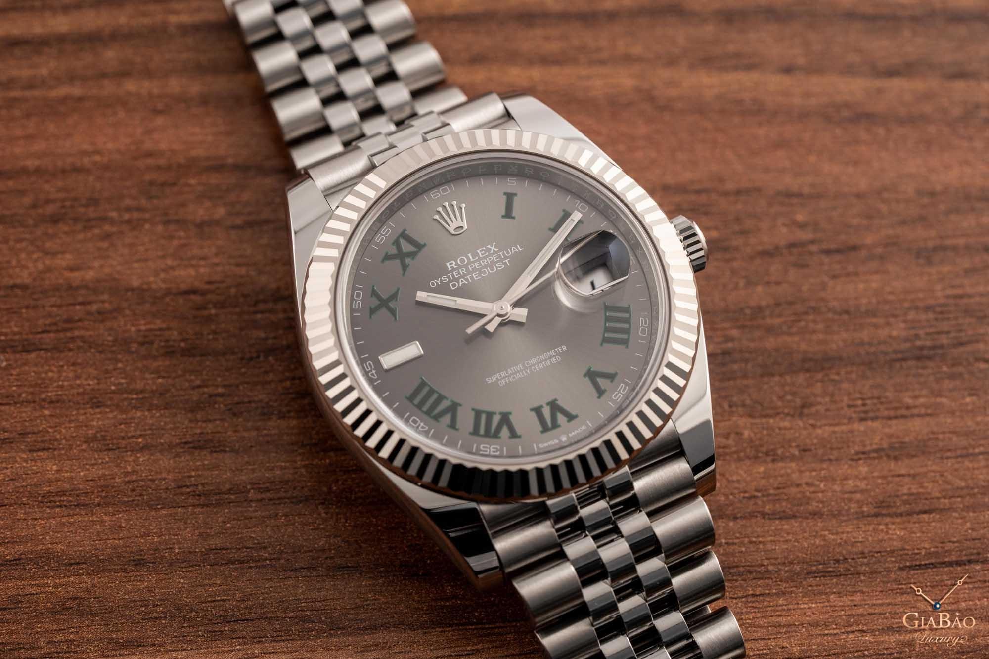 Đồng Hồ Rolex Datejust 126334 Mặt Số Rhodium Tối  Cọc Số La Mã