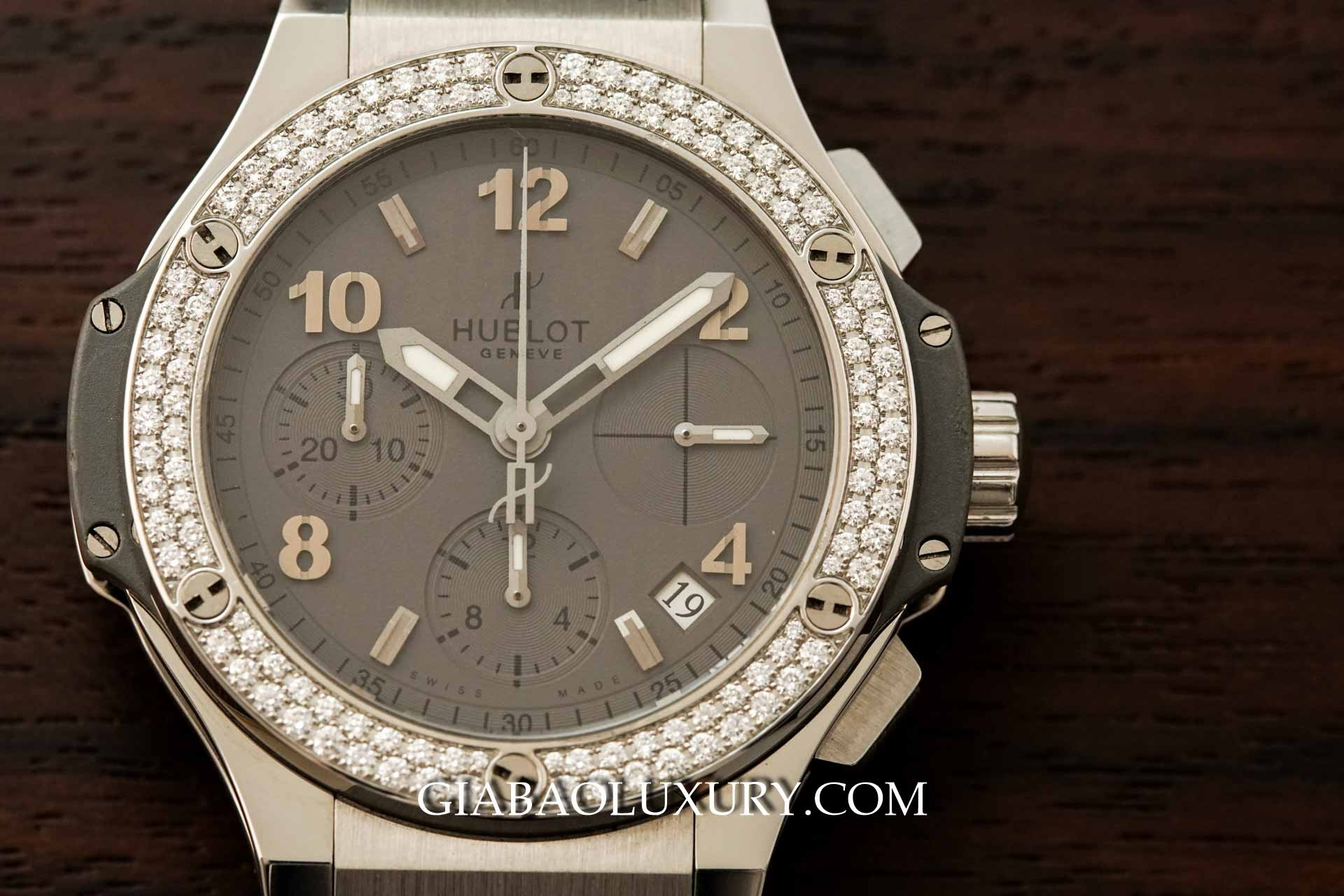 Đồng Hồ Hublot Big Bang Earl Gray Diamond Chronograph 41mm