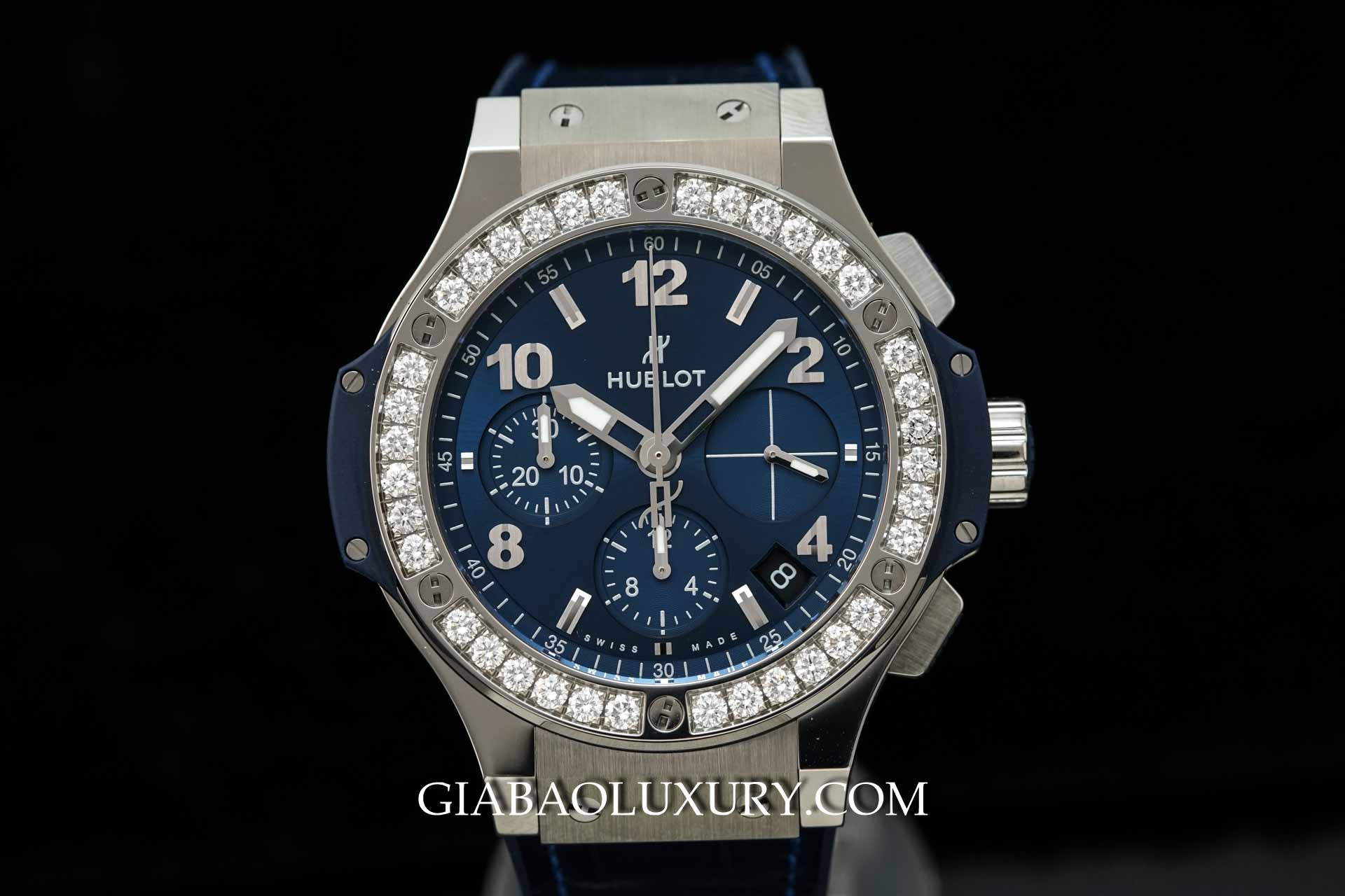 Đồng hồ Hublot Big Bang Steel Blue Diamonds 41mm 341.SX.7170.LR.1204