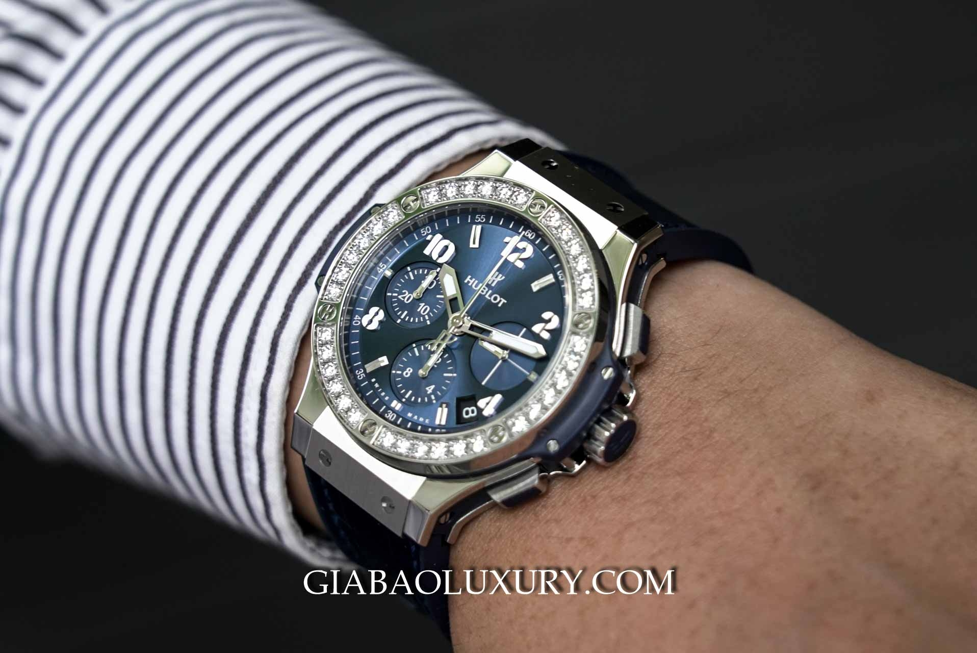 Đồng hồ Hublot Big Bang Steel Blue Diamonds 41mm