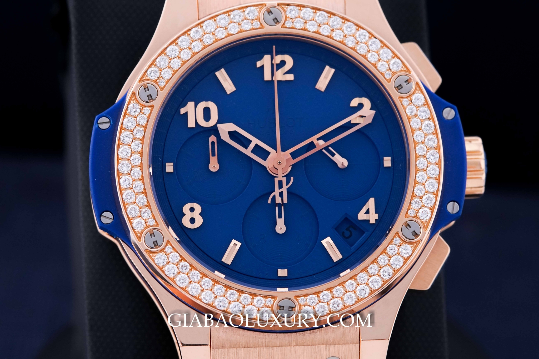 Đồng Hồ Hublot Big Bang Dark Blue Diamonds Gold Tutti Frutti