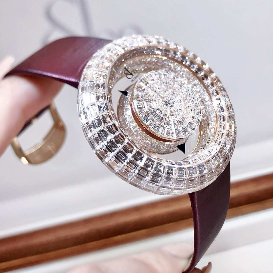 Đồng Hồ Jacob & Co Brilliant Mystery Baguette White Diamonds