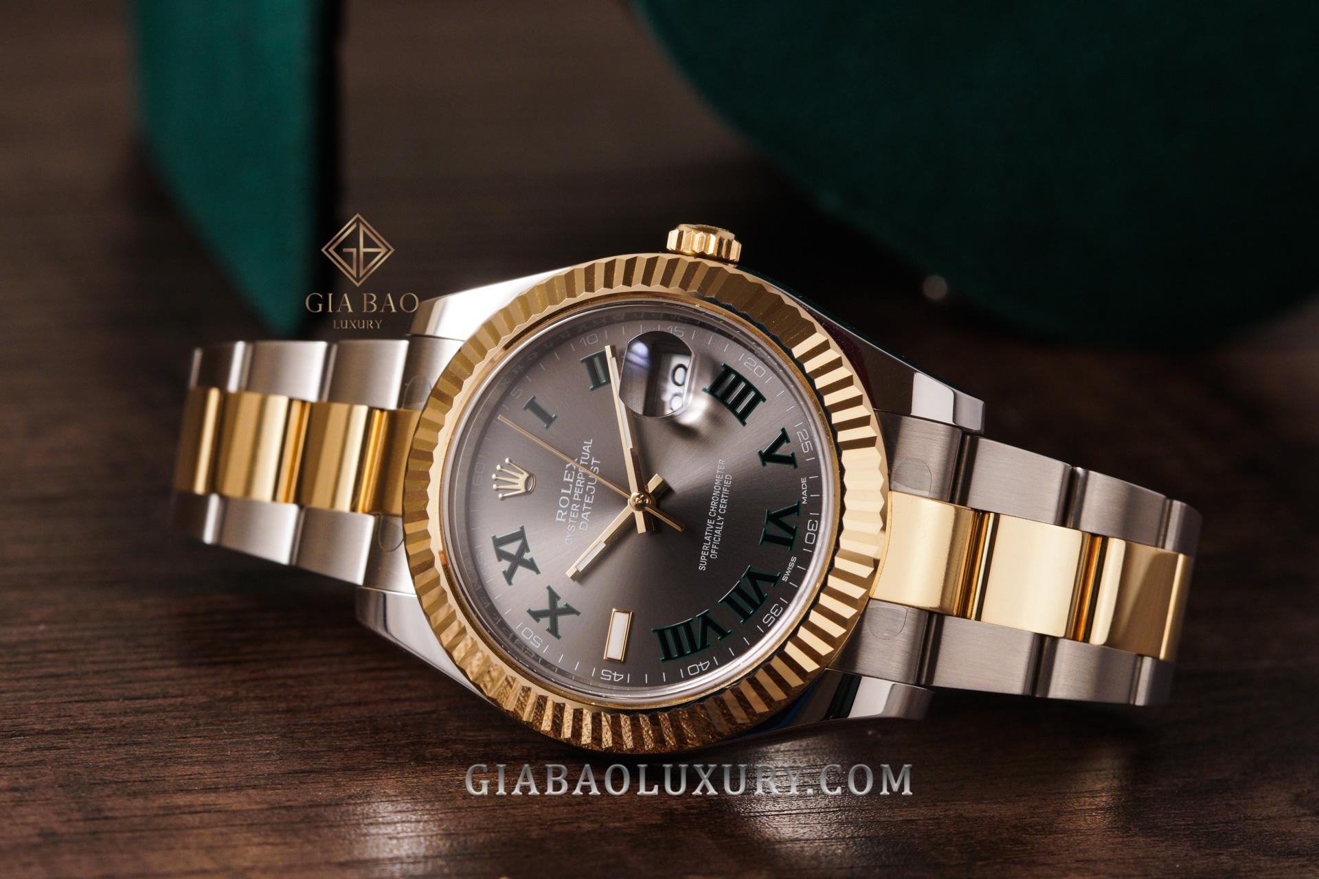 Đồng Hồ Rolex Datejust 41 116333 Mặt Số RhodiumDây Đeo Oyster