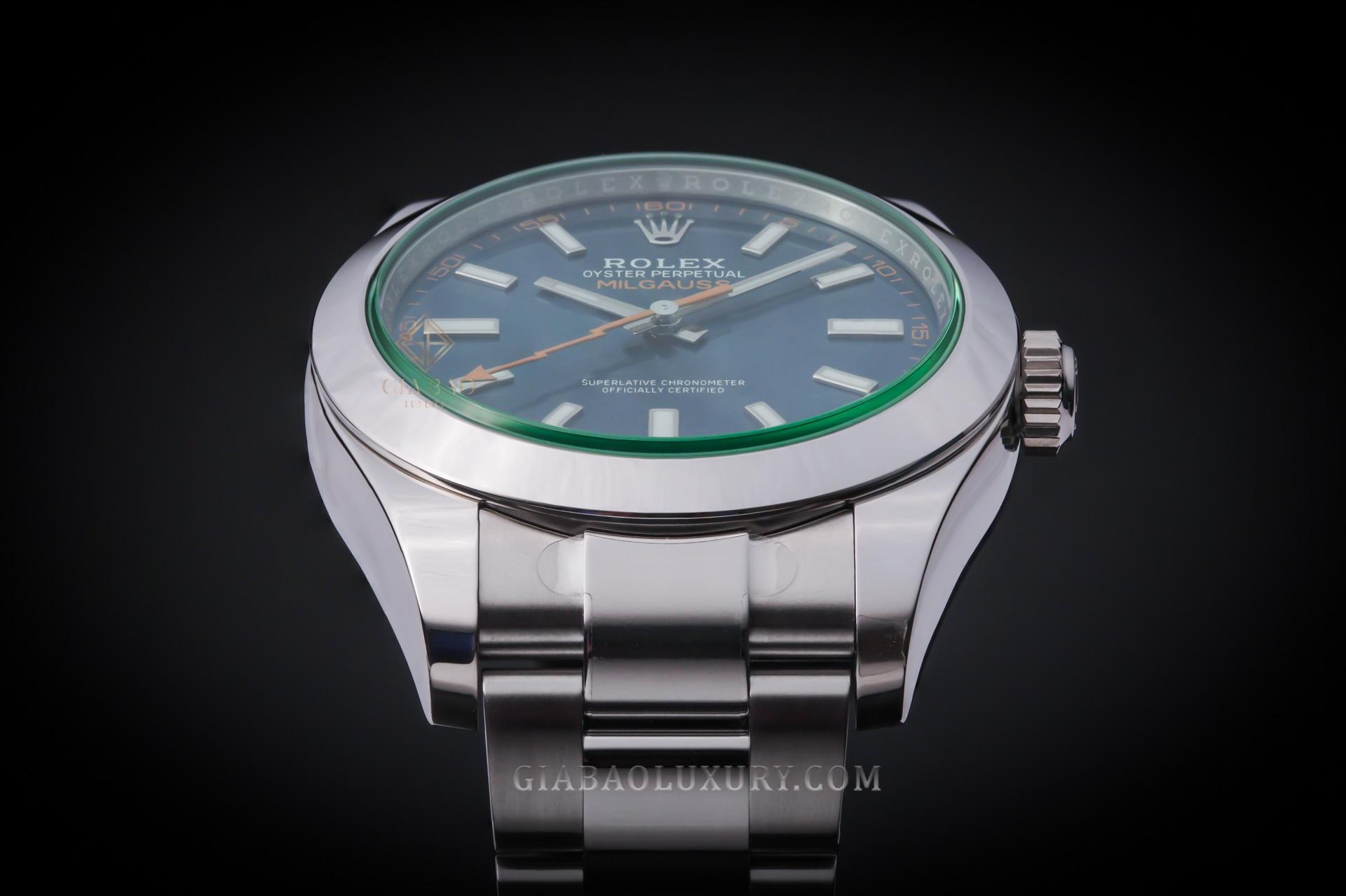 Đồng Hồ Rolex Milgauss 116400GV Mặt Số Xanh