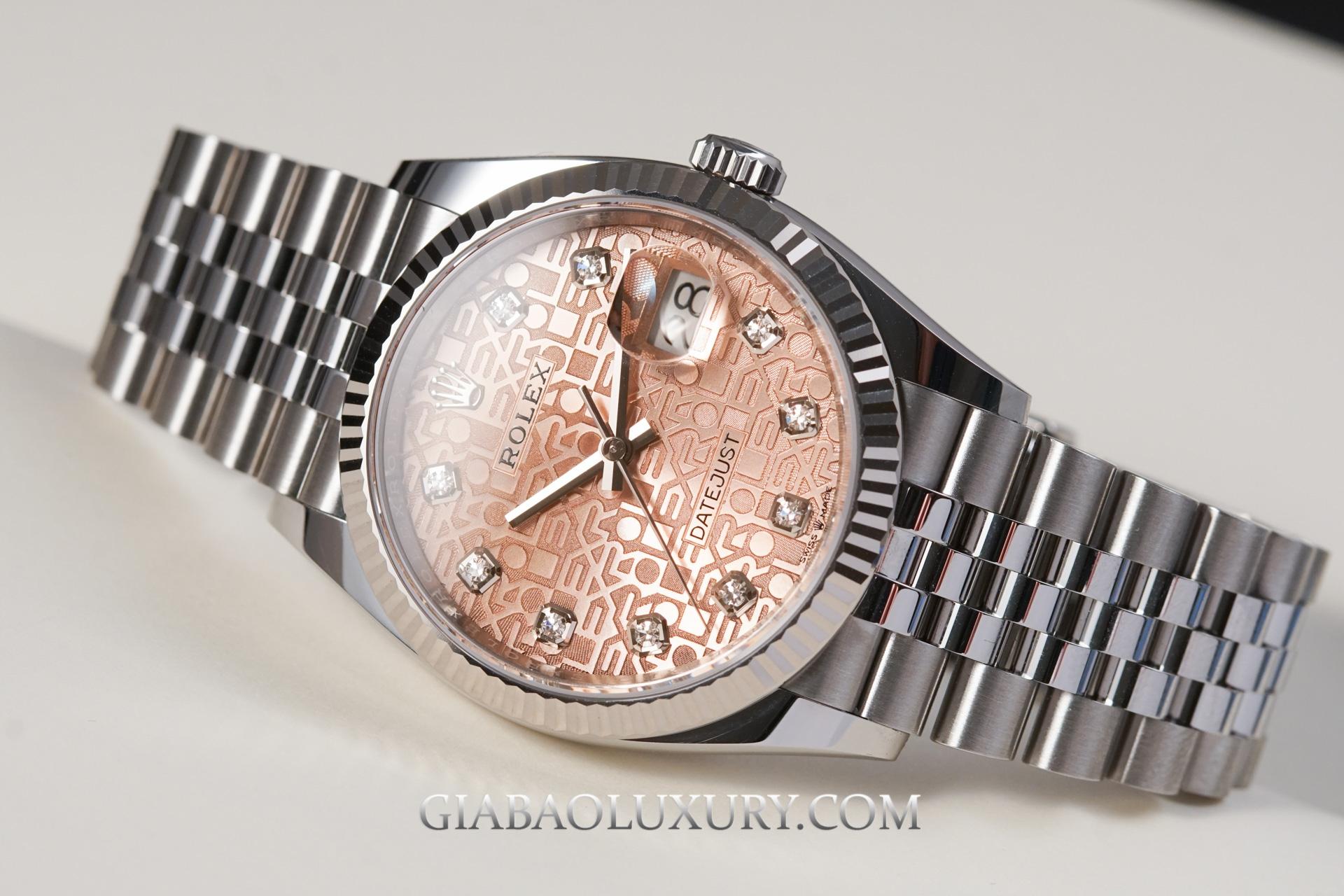 Đồng Hồ Rolex Datejust 36 126234 Mặt Số Vi Tính Hồng