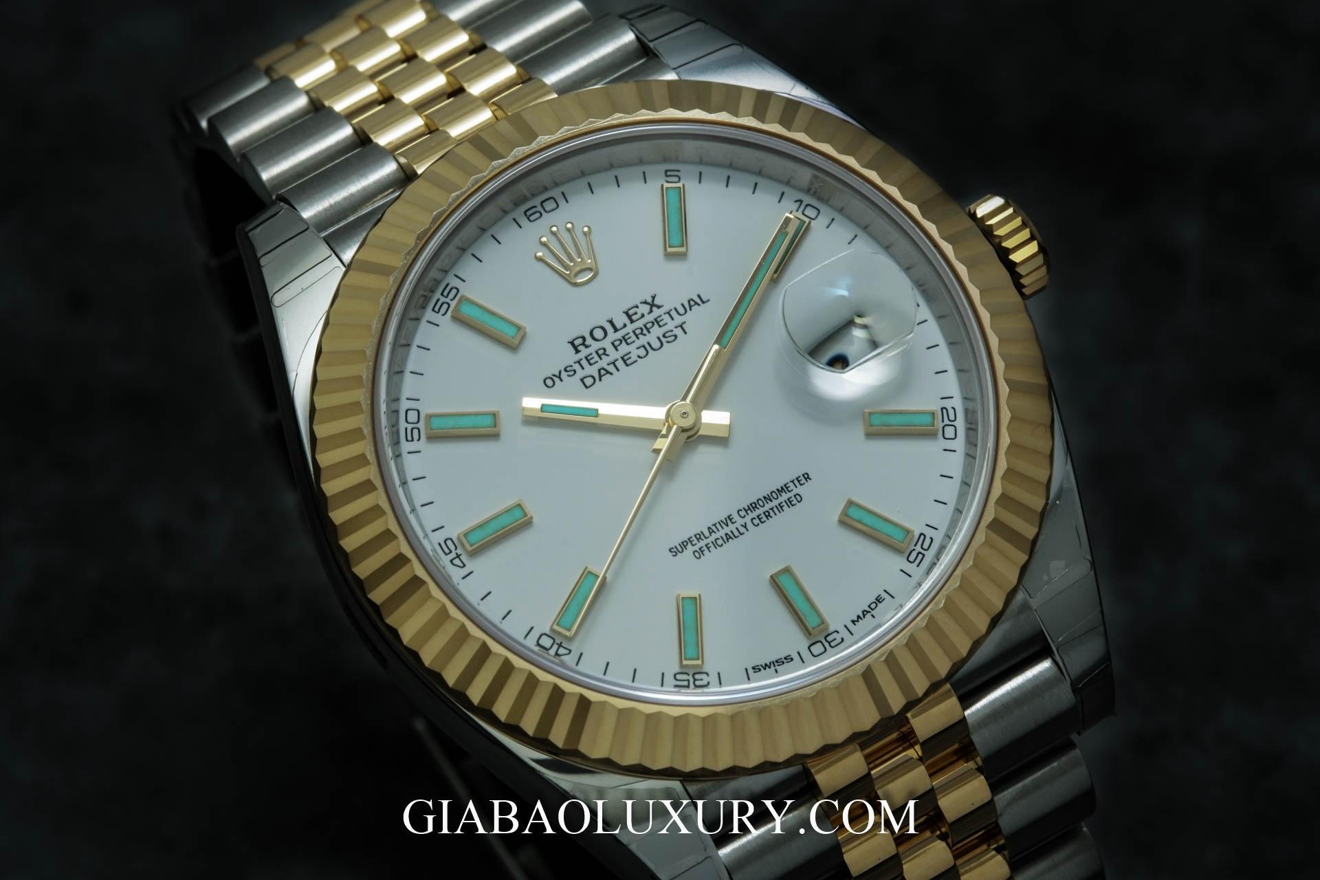 Đồng Hồ Rolex Datejust 126333 Mặt Số Trắng