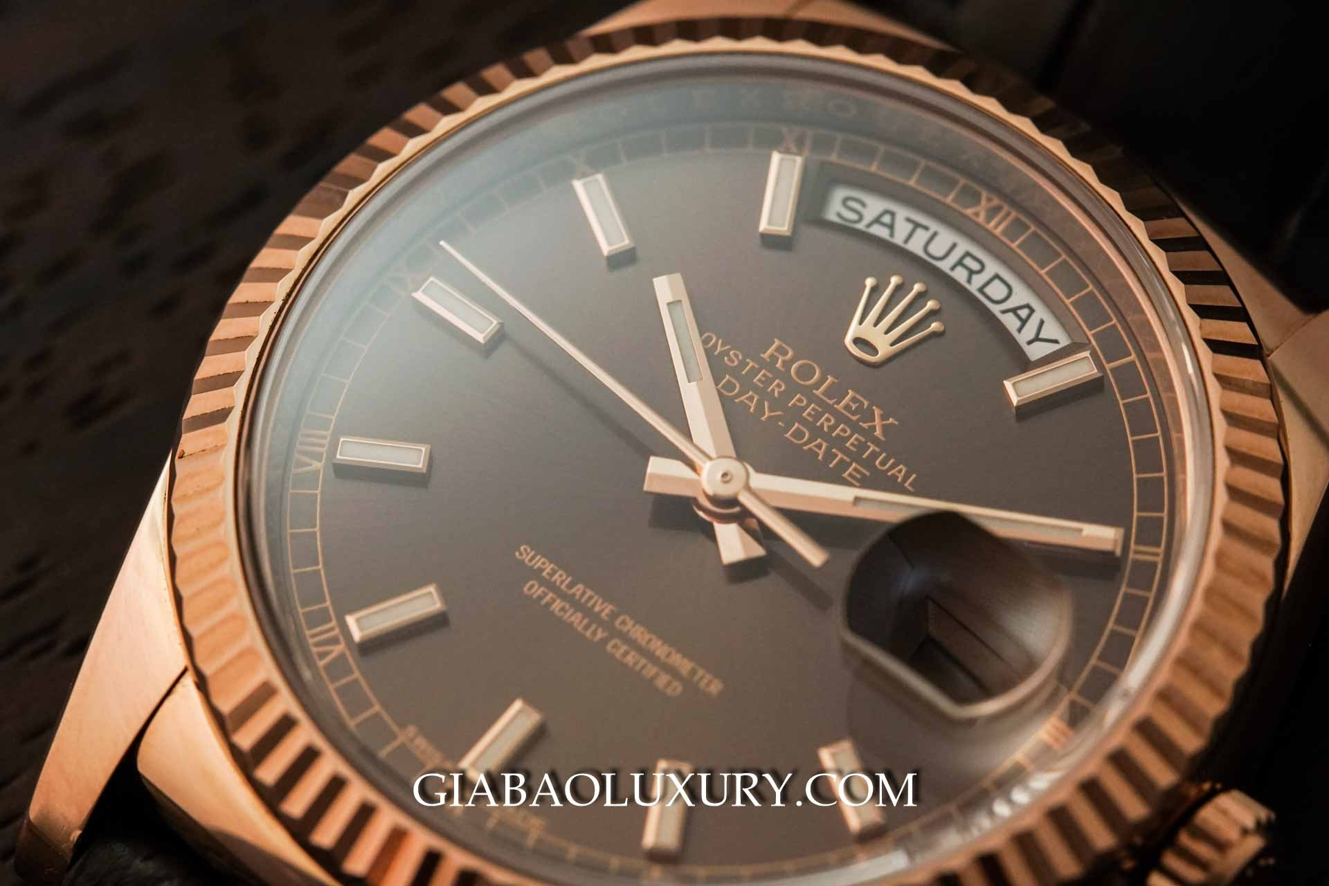 đồng hồ Rolex Day-Date 118135 chocolate