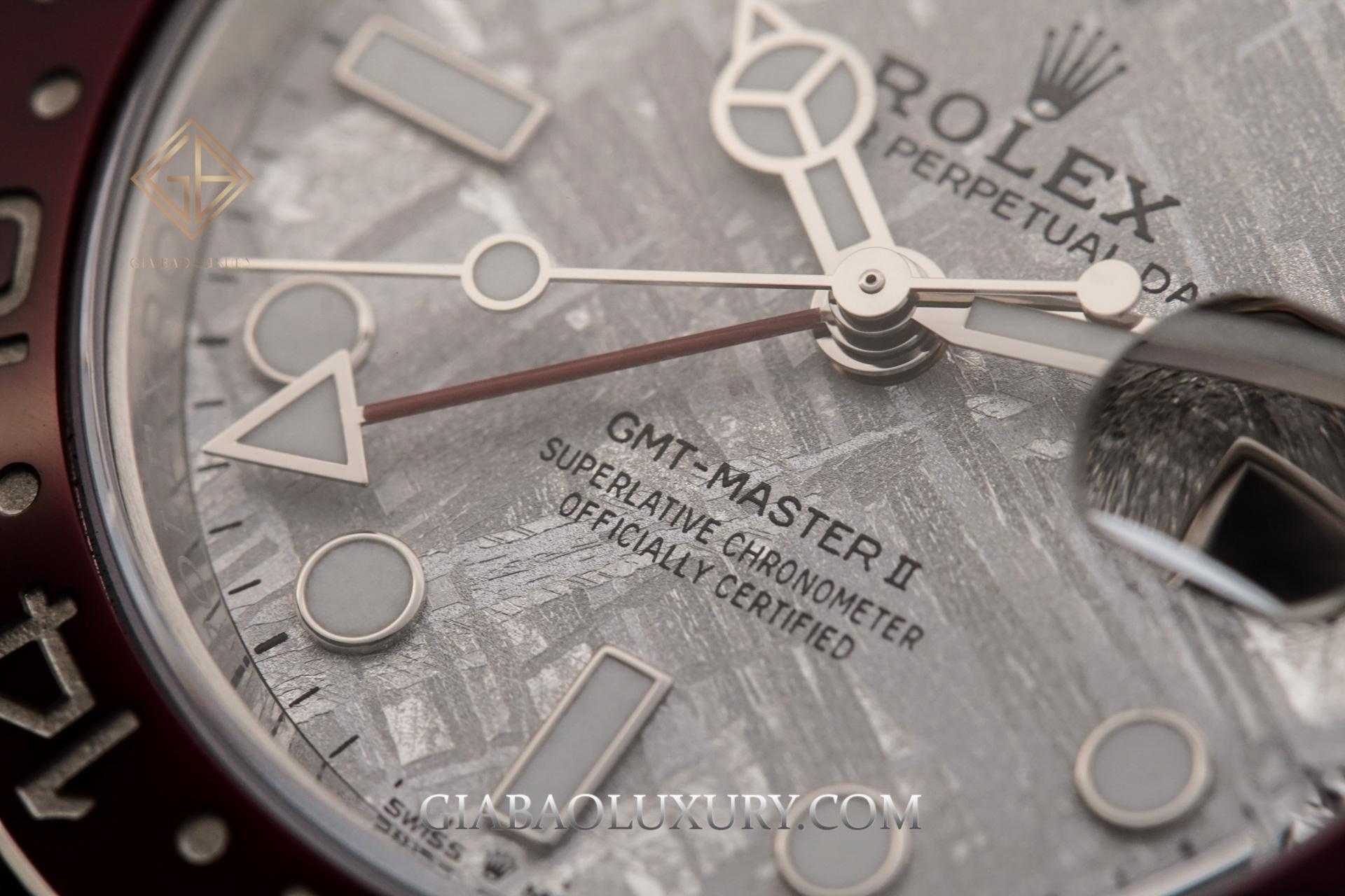 Đồng Hồ Rolex GMT-Master II 126719BLRO Mặt Số Thiên Thạch