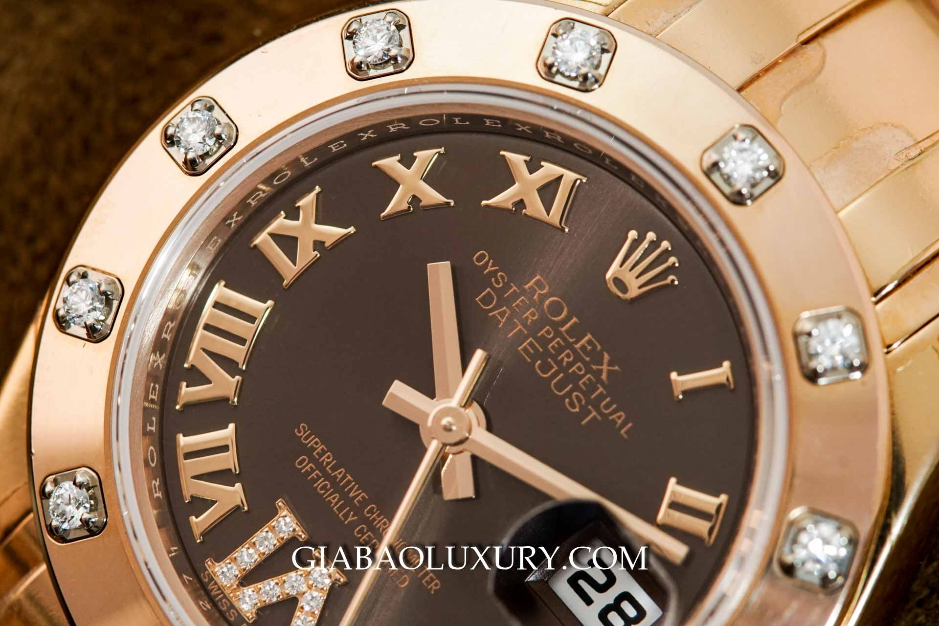 Đồng Hồ Rolex Datejust Pearlmaster 80315 Mặt Chocolate