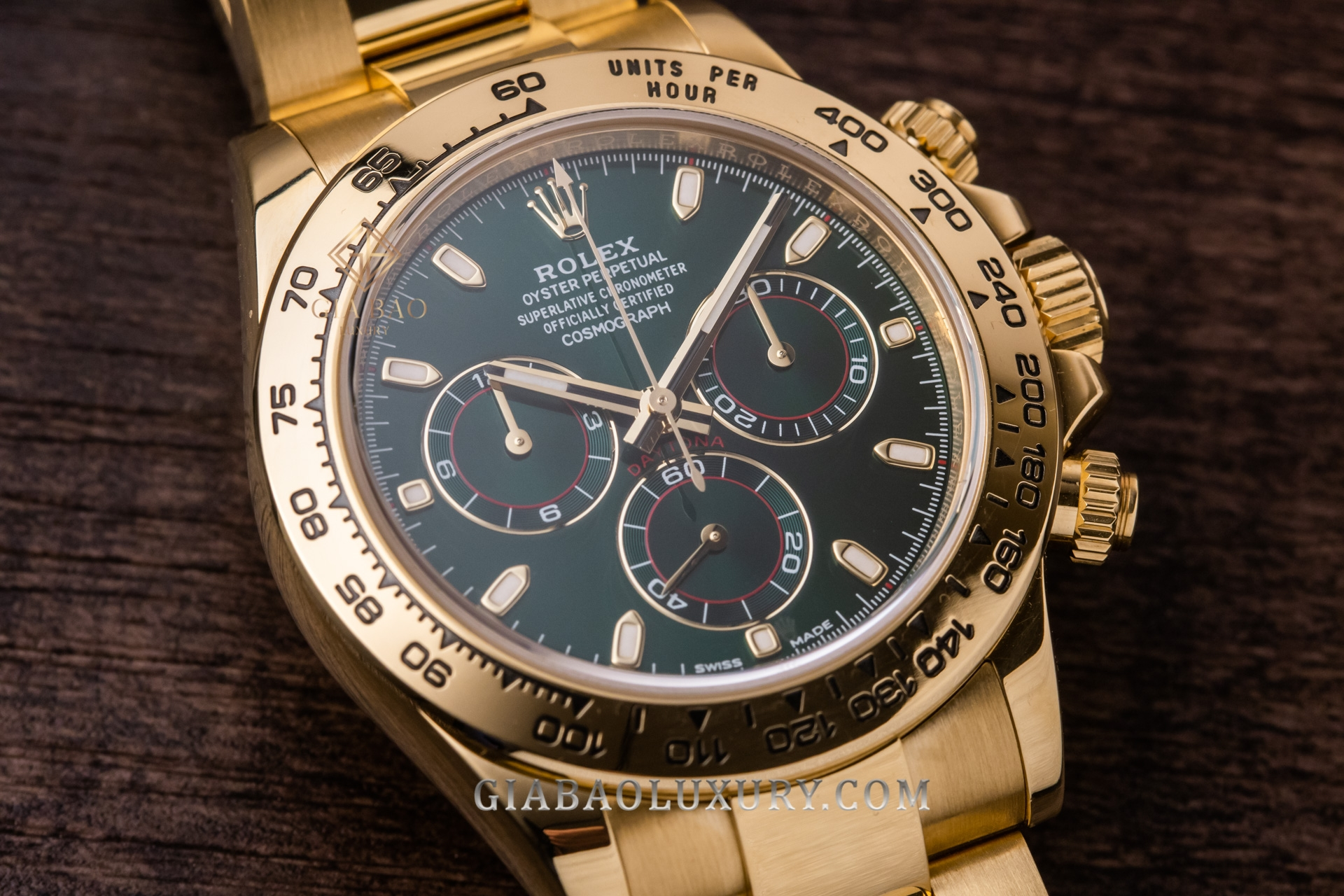 Đồng Hồ Rolex Cosmograph Daytona 116508 Mặt Số Xanh Lá