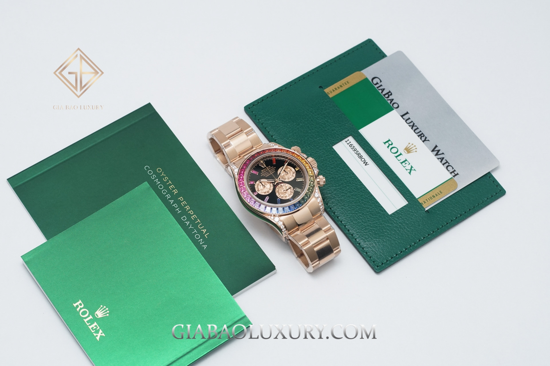 "Review Đồng Hồ Rolex Cosmograph Daytona ""Rainbow"" 116595RBOW"