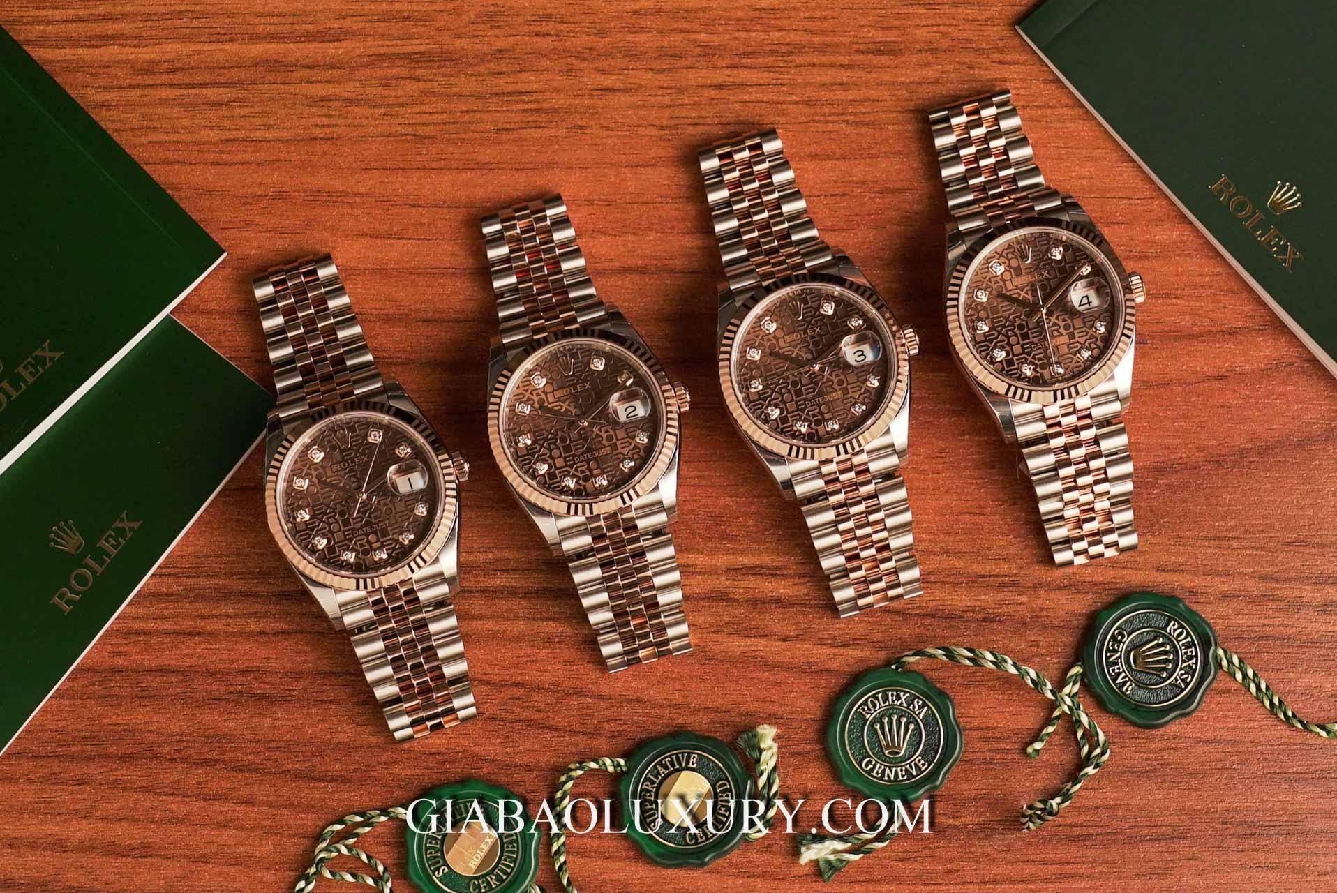 Đồng Hồ Rolex Datejust 126231 Mặt Số Vi Tính Chocolate