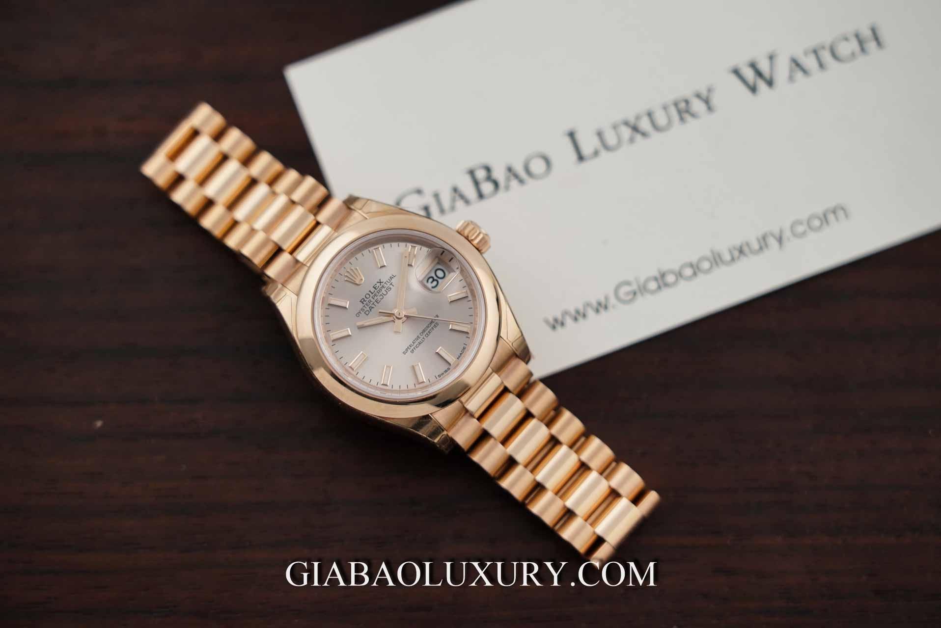 Đồng hồ Rolex Lady Datejust 279165 Mặt Số Sundust