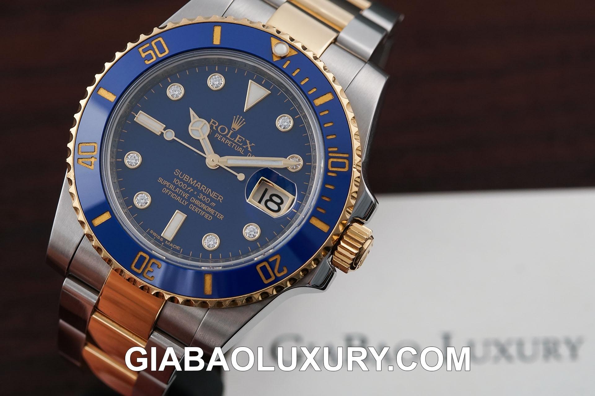 Đồng hồ Rolex Submariner Date 116613 cọc số kim cương siêu hiếm