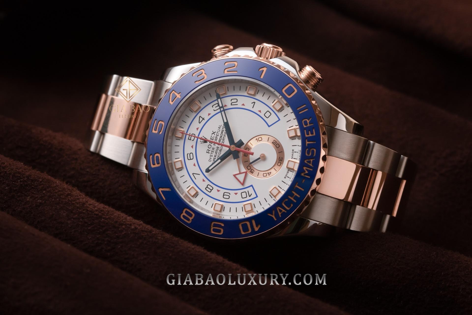 Đồng Hồ Rolex Yacht-Master II 116681 mặt số đầy cuốn hút