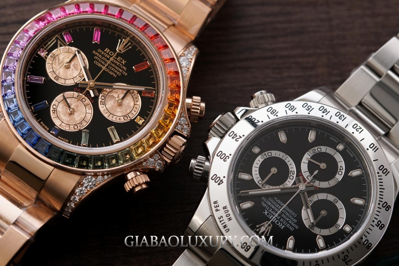 Rolex Cosmograph Daytona 116520 và 116595RBOW