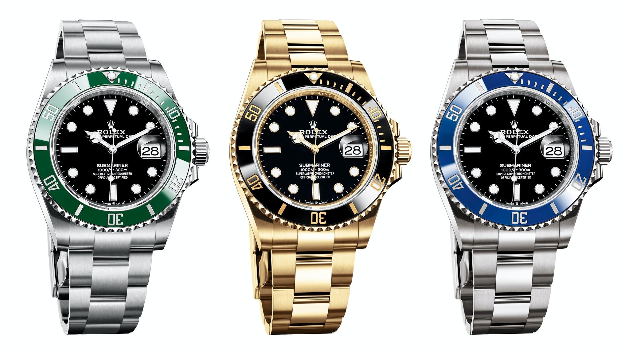 Sự khác biệt giữa đồng hồ Rolex Submariner 40mm và Rolex Submariner 41mm
