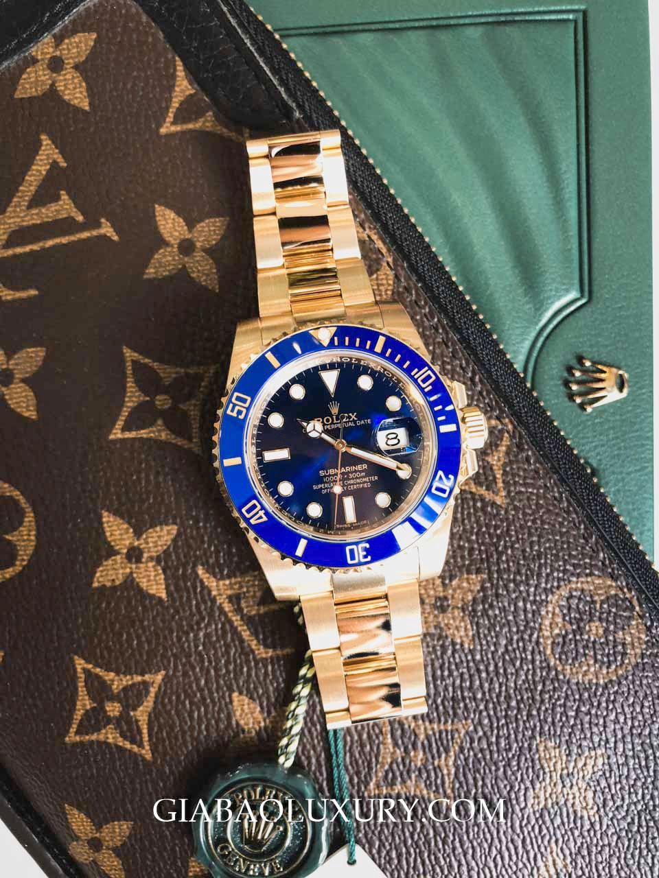 Rolex Submariner Date 116618LB Mặt xanh navy