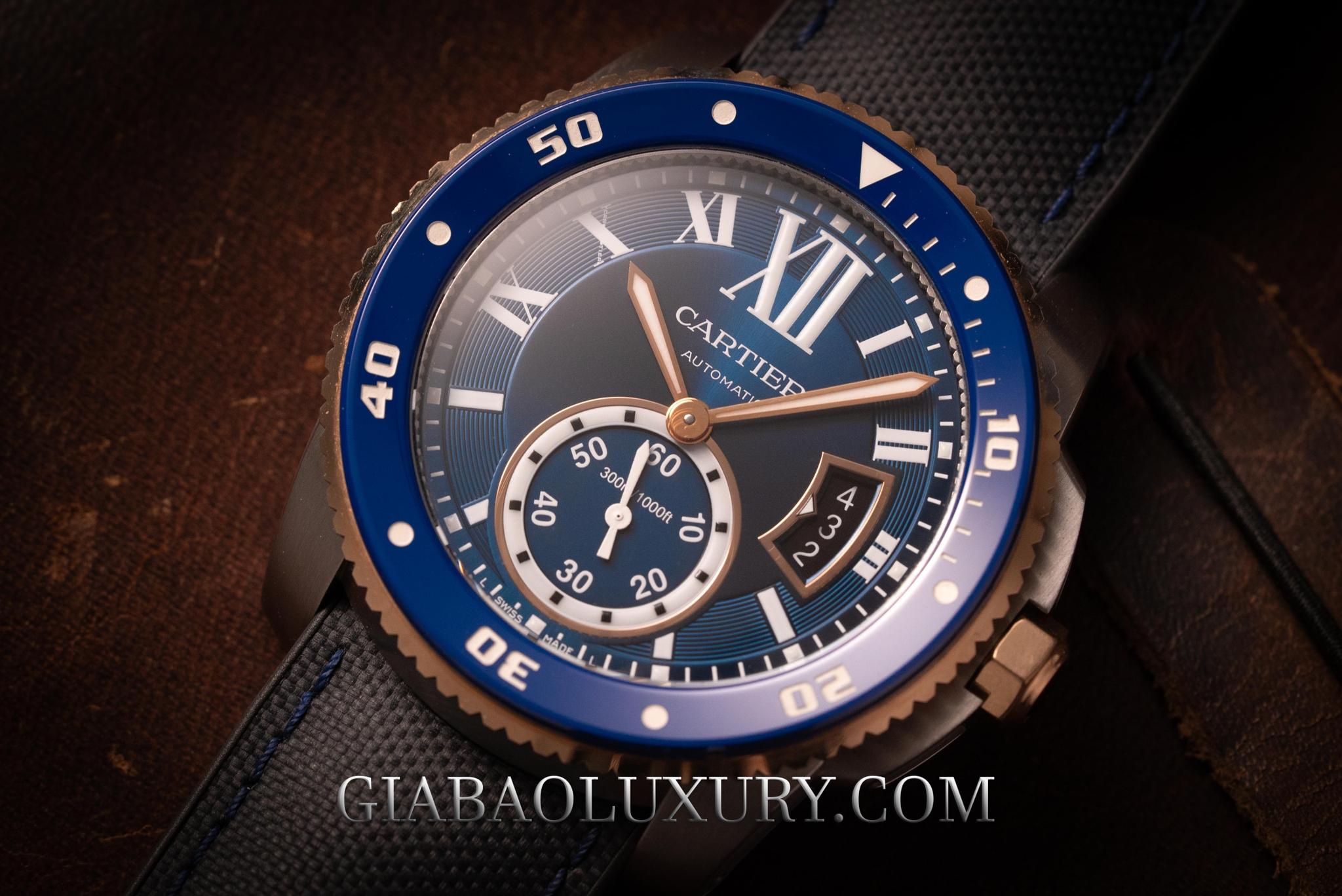 Review Đồng Hồ Cartier Calibre De Cartier Diver 42mm W2CA-0008