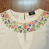 Embroidered shell top OASIS