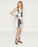 Frilled printed dress by Zara