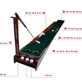 Thảm Tập Putting Golf - PGM Pine Wood Velvet Putting Trainer - TL003