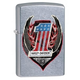 Zippo Harley-Davidson One Wings Flame Street Chrome