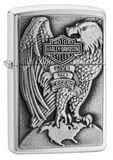 Zippo Made in the USA Eagle and Globe Emblem Brushed Chrome